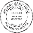 AR-NOT-RND - Arkansas Notary Stamp - Round