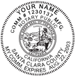 CA-NOT-RND - California Notary Stamp - Round