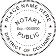 DC-NOT-RND - District of Columbia (DC) Round Notary Stamp