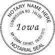 IA-NOT-RND - Iowa Round Notary Stamp
