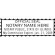 IL-NOT-1 - Illinois Notary Stamp