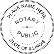 IL-NOT-RND - Illinois Round Notary Stamp