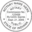 IN-NOT-RND - Indiana Round Notary Stamp