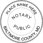 MD-NOT-RND - Maryland Round Notary Stamp