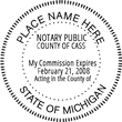 MI-NOT-RND - Michigan Round Notary Stamp