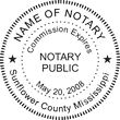 MS-NOT-RND-1 - Mississippi Round Notary Stamp
