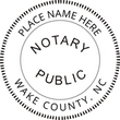 North Carolina Round Notary Stamp