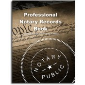 Professional Notary Records Book