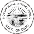 OH-NOT-RND - Ohio Round Notary Stamp
