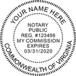 VA-NOT-RND - Virginia Round Notary Stamp
