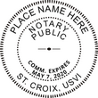 VI-NOT-RND - U.S Virgin Islands Round Notary Stamp