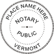 VT-NOT-RND - Vermont Round Notary Stamp