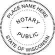 WI-NOT-RND - Wisconsin Round Notary Stamp