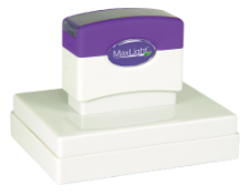 Order a MaxLight XL2-700 pre-inked rubber stamp.
