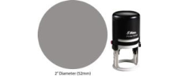 Shiny R552 2 inch diameter round self inking rubber stamp