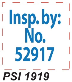 PSI 1919 Self Inking Rubber Stamp