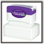 MaxLight Pre-inked Rubber Stamps from the Rubber Stamp Shop