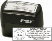 Montana Pre-Inked Notary Seal Stamp is Precision crafted and ergonomically designed with outstanding impression quality.