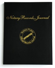 Order a notary records journal to maintain notarial acts in a convenient logbook.
